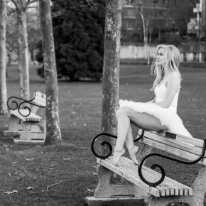 Ballerina on Bench