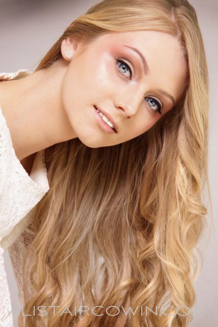 Studio shot taken for Alistair Cowin's Beauty Book - 2015 <br /> Model: Sian<br /> MUA &Hair: Meg Flory