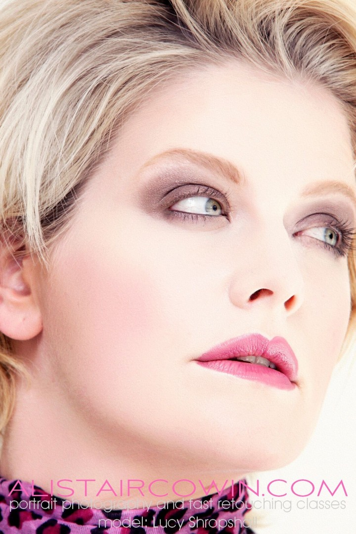 Photographed for Alistair Cowin's Beauty Books <br /> Model: Lucy Bassett Makeup: Beth Amos