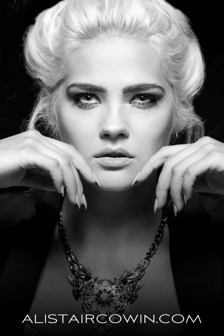 Photographed for Alistair Cowin's Beauty Books and the model's Portfolio<br /> Makeup: Sammy Carpenter<br /> Model: Aly Sky