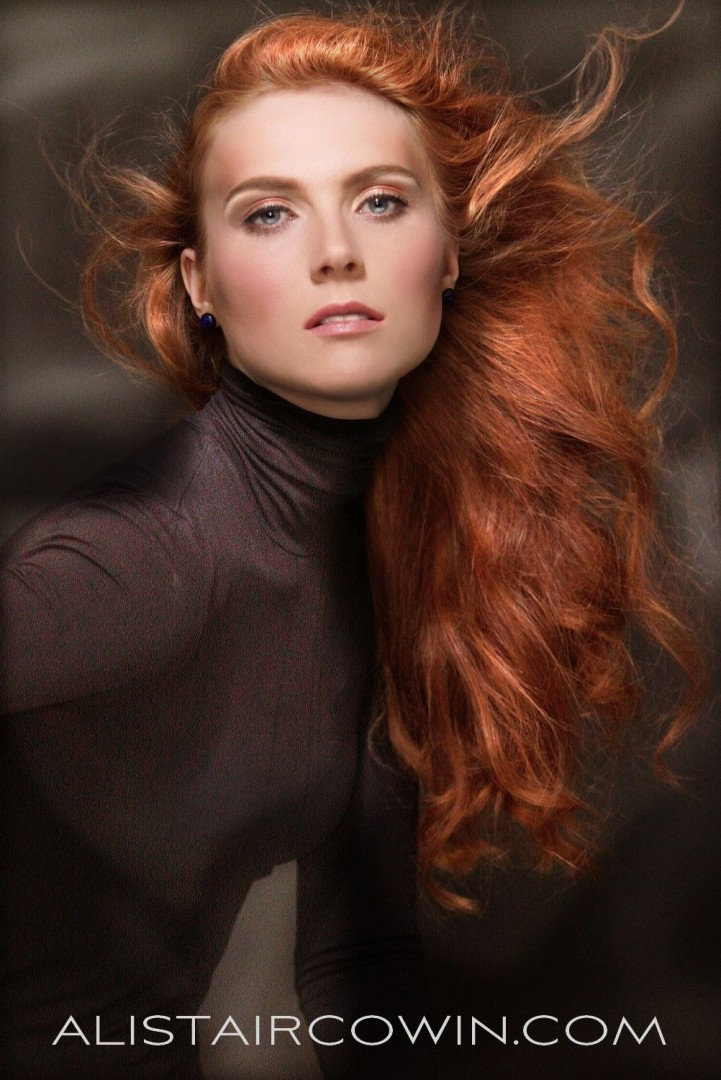 Photographed for Alistair Cowin's Beauty Book and the model's Portfolio