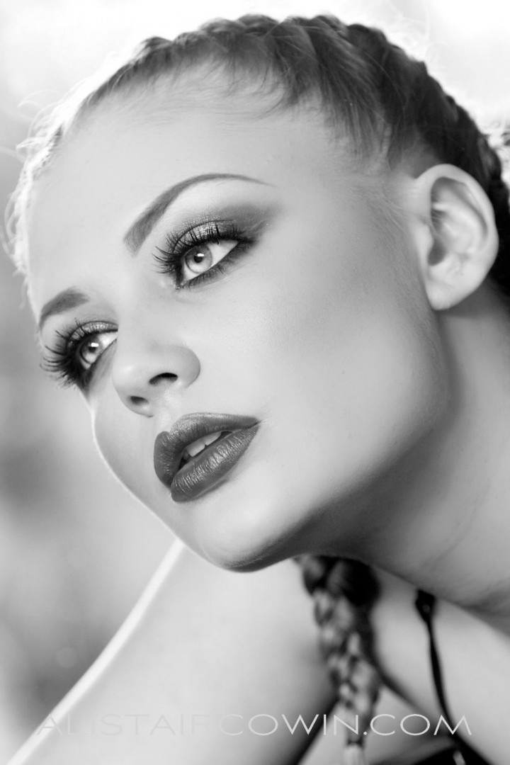 Photographed for Alistair Cowin's Beauty Books and the model's Portfolio<br /> Makeup: Rebecca Marks<br /> Model: Holly-May Phipp
