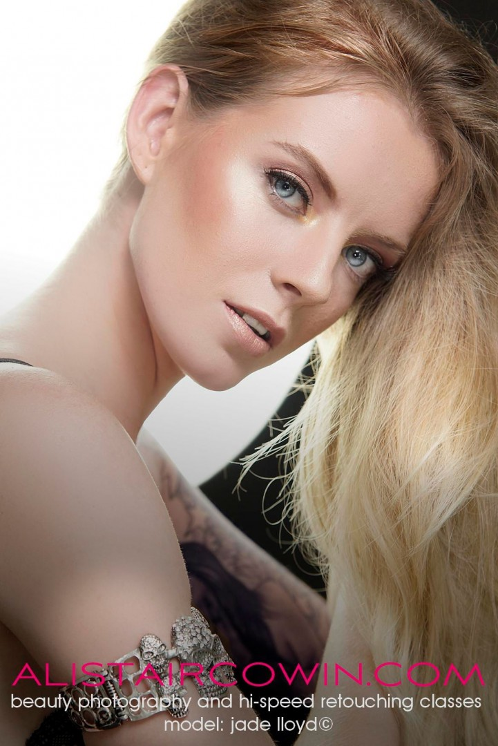Photographed for Alistair Cowin's Beauty Books and Editorial features. <br /> Model: Jade lloyd   MUA: Michelle Graham