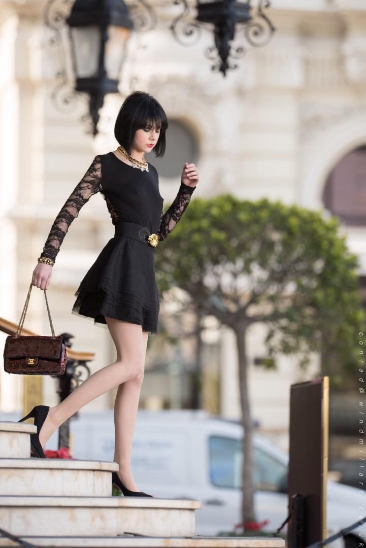 Atalanta shot on Location in Monaco, Assisted by David Adkin<br /> MUA - Jax Adkin<br /> Dress by Valentino<br /> Tights by Wolford
