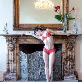 Red Rose Lace Lingerie Set