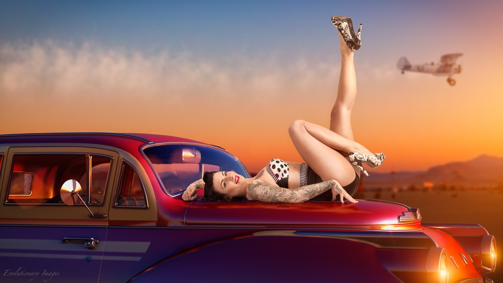 Pinup shoot with model Rhi Vamp'd