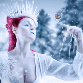 Elven Ice Queen and the Robin