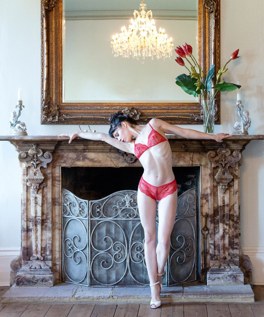 Lingerie shoot for Clementine Divine Lingerie at Pipewell Hall Northants.